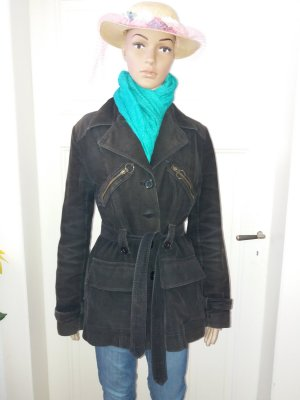 Schwarze Jacke aus Kord