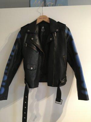 Schwarze Jacke imitation Lederjacken