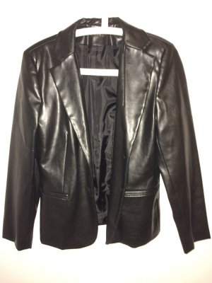 Schwarze Jacke in Lederimitat
