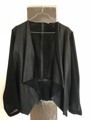 Schwarze Jacke Lederimitat