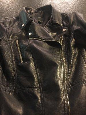 Schwarze Jacke lederoptik forever 21 S