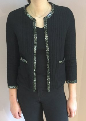 Schwarze Jacke mit Applikationen