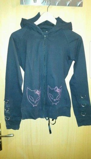 schwarze Jacke mit Corsagenoptik von Bye Bye Kitty Gr. 38