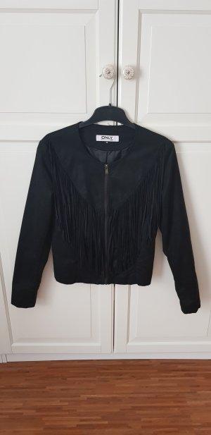 Schwarze Jacke mit Flanellen von ONLY