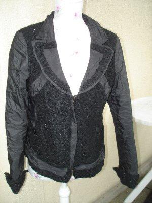 Schwarze Jacke mit Glitzer von BiBA Gr. 42