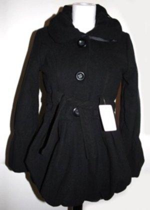 Schwarze Jacke mit Puffärmeln – NEU mit Etikett!