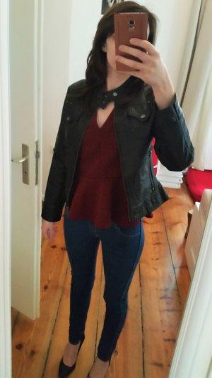 Schwarze Jacke von Gipsy Lederoptik