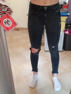 Zara Woman Tube Jeans black