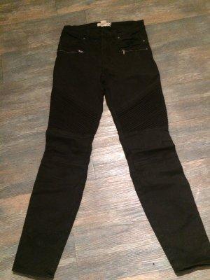 H&M Biker jeans zwart-zilver