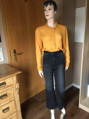Schwarze Jeans-Culotte im used look von H&M