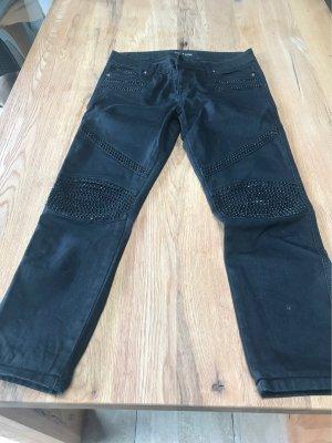Philipp Plein 7/8 Length Jeans black