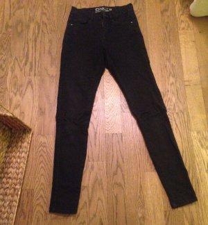 Schwarze Jeans Gr. Xs