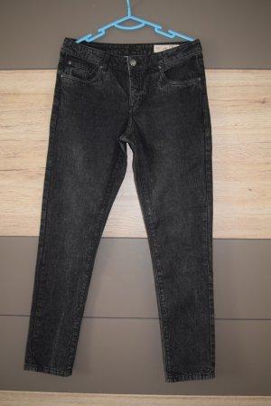 schwarze Jeans, Hose, Jeanshose, Gr. 36/S
