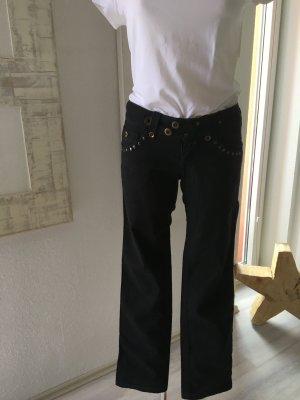 Schwarze Jeans *Mexx* Gr. 36 mit Nieten