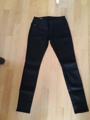 schwarze Jeans Midge Zip