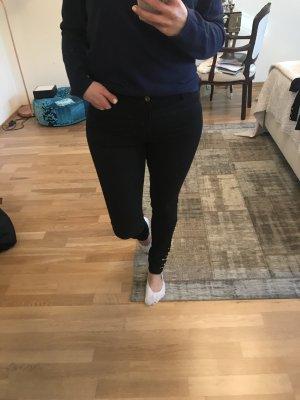 schwarze Jeans mit goldenen Nieten Vero Moda Größe 38