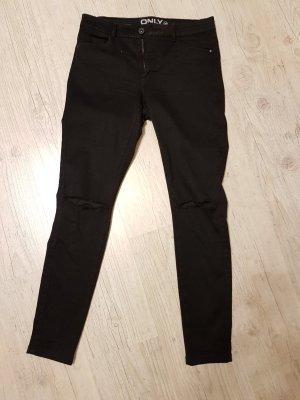 Schwarze Jeans mit Rissen L