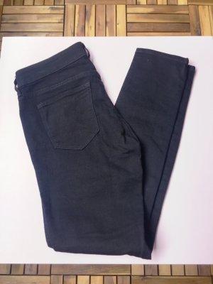 Schwarze Jeans, Skinny Low Waist, Gr. 29/30