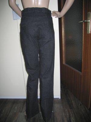 Hoge taille jeans zwart Katoen