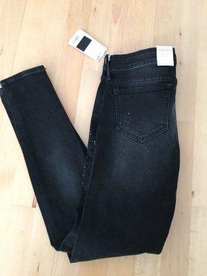 schwarze Jeans von Mango, neu
