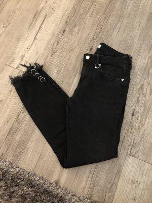 Zara Woman Tube jeans zwart