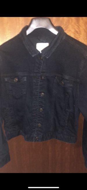 Schwarze Jeansjacke in Gr.46