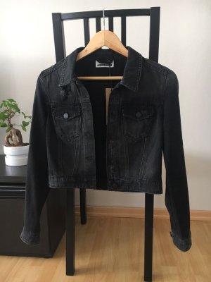 schwarze Jeansjacke von Noisy may
