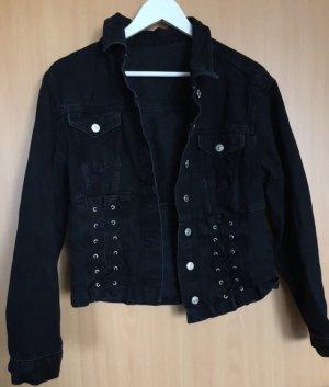 Schwarze Jeansjacke von Topshop