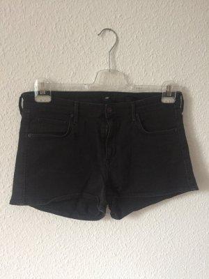 Schwarze Jeansshort