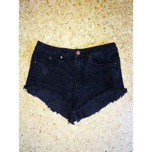 Schwarze Jeansshorts - H&M