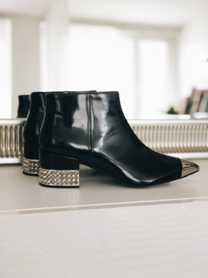 Jeffrey Campbell Booties black-silver-colored leather