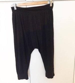 schwarze Jersey-Sweatpants