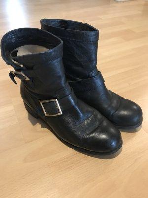 Schwarze Jimmy Choo Biker Boots