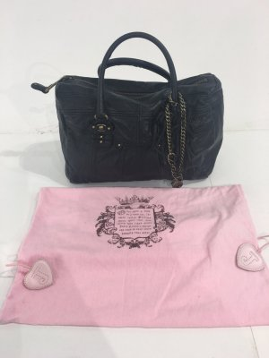 Schwarze Juicy Couture Ledertasche