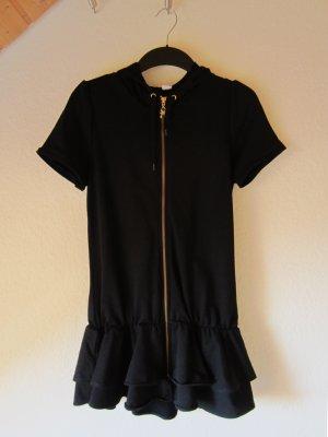 Schwarze Kapuzenjacke mit Röckchen // Kapuzen-Kleid