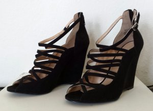 H&M Wedge Sandals black imitation leather