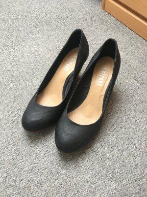 Schwarze Keilschuhe 39 Street shoes