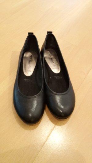 Tamaris Ballerinas with Toecap black leather