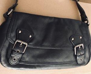 Schwarze kleine Ledertasche von Esprit mit zwei Schnallen