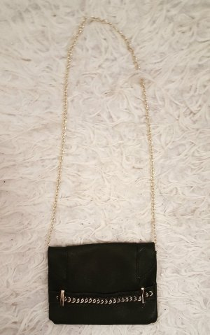 Mini Bag black-gold-colored imitation leather