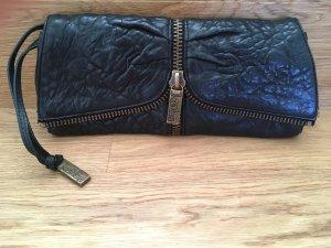 Shoulder Bag black-silver-colored leather