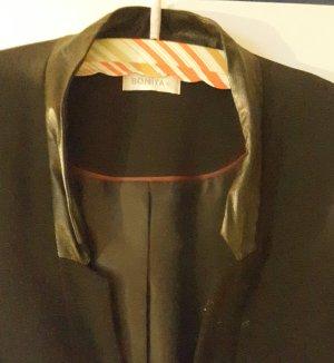 Schwarze Kostüm Jacke mit langen Ärmeln, in Größe 46 von Bonita