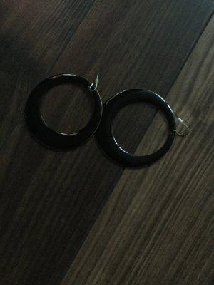 Schwarze Kreolen Ohrringe