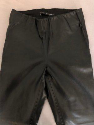 Zara Basic Pantalon en cuir noir