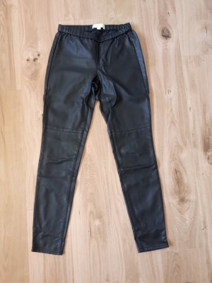 Michael Kors Pantalon en cuir noir faux cuir