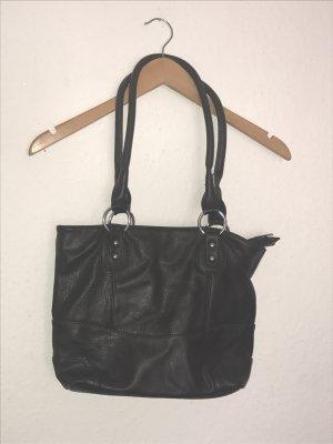 Schwarze Kunstledertasche