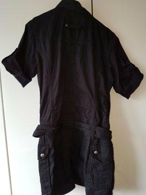 schwarze, kurzärmlige Blusenjacke