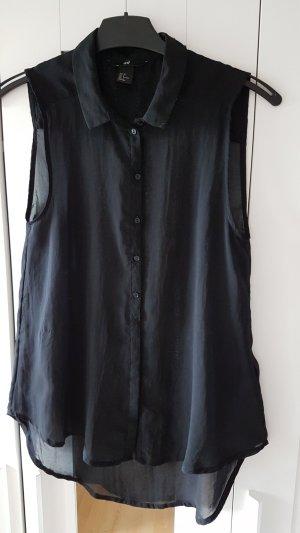 schwarze kurzarm Bluse