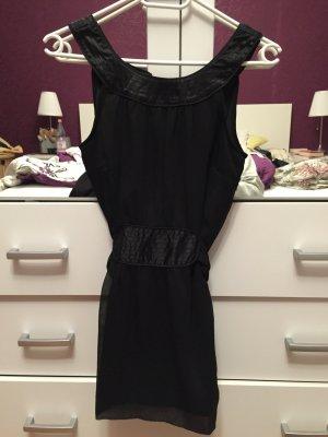 Schwarze Kurzarm Bluse von Vero Moda, Größe 34