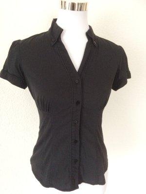 schwarze Kurzarmbluse / Bluse kurzarm von Orsay - Gr. XS